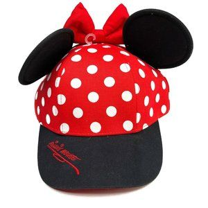 Minnie Mouse Ears Hat One Size YOUTH Snapback